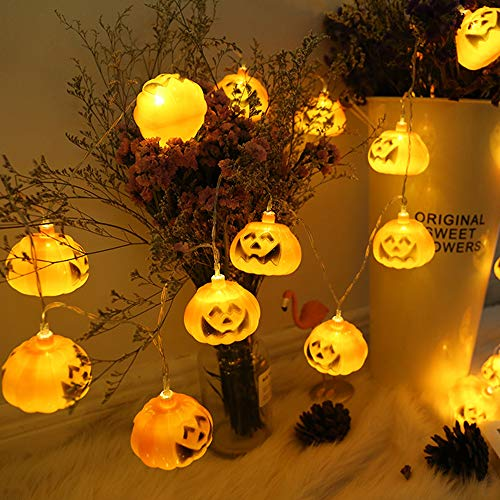 Yongsheng Halloween String lights 3M 20 LED Pumpkin Lights Battery-powered Halloween Party indoor Outdoor Family Holiday Decoration Horror Chandelier bar layout colored lights string Lights