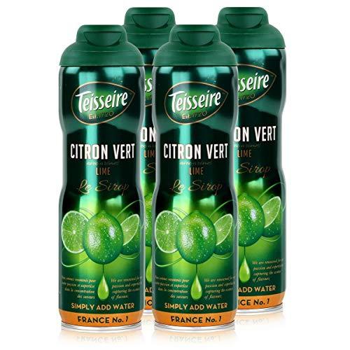 Teisseire Getränke-Sirup Lime/Limette 600ml - Sirup der genauso schmeckt wie die Frucht (4er Pack)