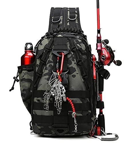 FISKINER Pro Fishing Backpack Creative Fishing Bag Fishing Tackle Storage Bag Outdoor Shoulder Backpack for Fishing Hiking Camping Hunting - Fishing Gear Bag Usefull Fishing Gifts for Men