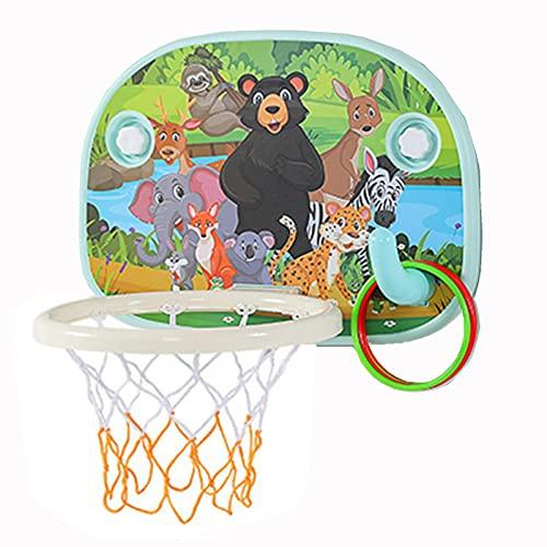 Tablero de Baloncesto El Soporte de Baloncesto de la visión de los niños, Puede Levantar y Bajar el aro de Baloncesto Interior Plegable del bebé, Juguete para niños con Montaje en la Pared