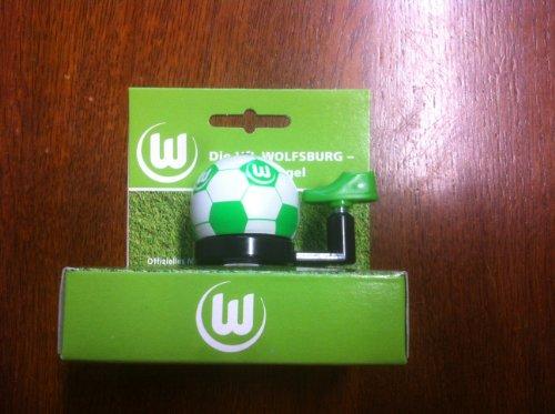 FANBIKE 2071300900 Glocke VFL Wolfsburg, weiß, 2 x 2 x 6 cm