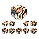 MHUI Sendust Inductor De Anillo Magnético Inductor Magnético Toroide 47Uh-220Uh Alambre Monocapa Enrollado por Viento (10 Piezas),100UH Wire diameter0.7mm