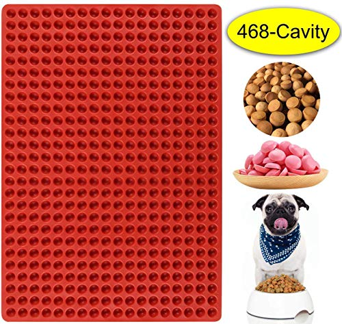 Palksky 221-Cavity Small Round Silicone Mold/Semicircle Chocolate Drops Mold/Dog Treats Pan/Semi Sphere Gummy Candy Molds for Ganache Jelly Caramels Cookies Pet Treats Baking Mold