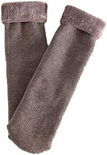 SKK, SKK 4 Pares de Calcetines cálidos súper Suave Zapatillas de Lujo calcetín Invernal Esponjoso Microfibra Calcetines de algodón al Aire Libre Senderismo Pista tripulación calcetín (Color : Brown)