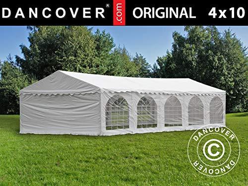 Dancover Partyzelt Pavillon Festzelt Original 4x10m PVC, Weiß