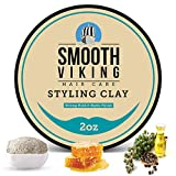Hair Clay For Men | Smooth Viking Hair Styling Clay For Matte Finish & Strong Hold (2 Ounces) - Non-Greasy & Shine-Free Hair Molding Clay - Mineral Oil Free Mens Hair Product