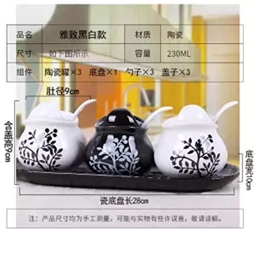Gewürzgläser Creative Ceramic Seasoning Jar Dreiteiliger Anzug Küchenutensilien Gewürzbox Flasche Salzstreuer European Seasoning Bottle Set, 3-Teiliger Anzug9