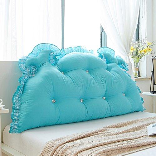 Coussins Mmm- Chevet Dossier Lit Princesse Chambre Oreiller Doux Doux Lavable (Couleur : Aqua Blue, Taille : 120cm)