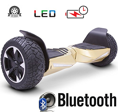 2018 Two Wheel Self Balance Scooter Off-Road Hoverboard UL 2272 Bluetooth Speakers 8.5 Inch All...