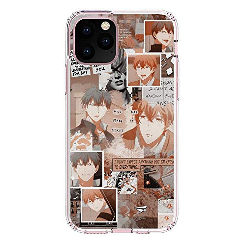 Mosku Ultra Thin Clear Soft Rubber Protect Case Cover for Apple iPhone 11 Pro MAX, Given-Guitar Mafuyu-Ritsuka 8