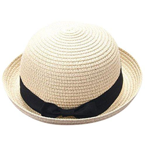Madre Y Yo Bebé Bowknot Niños Sombrero Transpirable Sombrero De Paja Sombrero De Niños Sombrero De Niñas AIMEE7 Sombrero De Sol para Padres E Hijos (bebé, Beige)