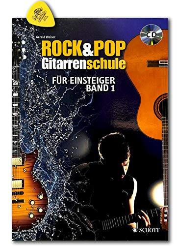 Rock & Pop Gitarrenschule - für Einsteiger - verschiedene Rock- und Popstile und Spieltechniken - Ausgabe mit CD, Akkordtabelle, Plek