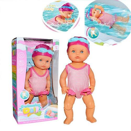 Born Baby Badepuppe,Nicht-Silikon Schwimmpuppe Baby, Mama Ich Kann Schwimmen Puppe Für Jungen Und Mädchen Kid & Toddler Badespielzeug Geschenk