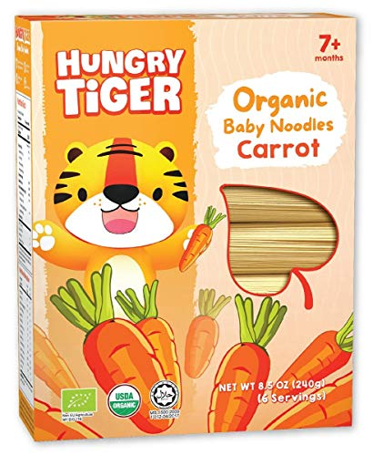 Hungry Tiger - Organic Baby Noodles Carrot 8.5 OZ (6 portions)