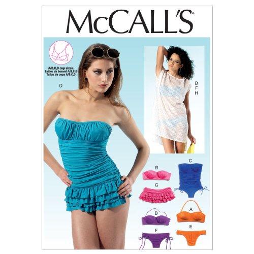 Mc Call´s Schnittmuster 6569 AX5 Badeanzug,Bikini,Trajes de Baño,Swimsuits Gr. 4-6-8-10-12 (30-38)