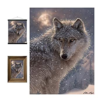 3D LiveLife Lenticular Wall Art Prints - Lone Wolf from Deluxebase Unframed 3D Animal Poster Perfect wall decor Original artwork licensed from renowned artist Collin Bogle