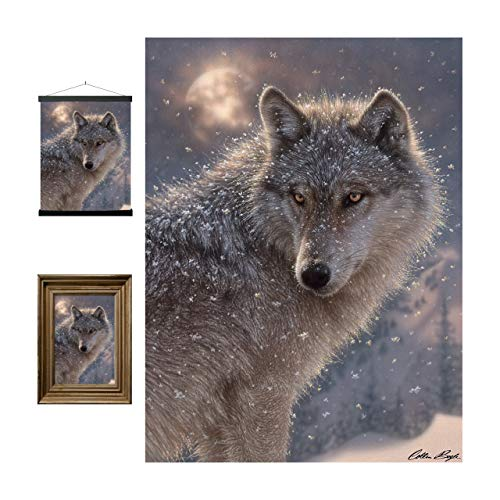 Lone Wolf 3D LiveLife Lenticular Wall Art Prints from Deluxebase. Beautiful Wolf 3D Poster. Original artwork licensed from renowned Artist Collin Bogle