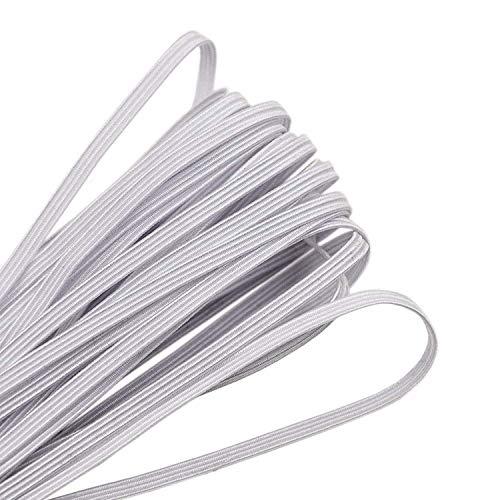 3mm Cuerda Elastica Costura, Blanco Goma Elastica Cordon Elastico Cuerda Elastica para Costura Y Manualidades DIY (Blanco,...