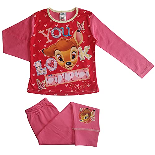 Bambi Love You Mädchen Schlafanzug 9-10 Jahre