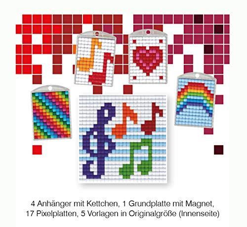 Pracht Creatives Hobby P90045-63501 - Pixel Spaß Bastelset 24, für 4 Medaillons, Schlüsselanhänger, für Kinder, Jungen und Mädchen, ideal als kleines Geschenk, Mitgebsel, für den Kindergeburtstag