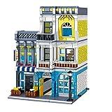 Bloques de construcción modulares de arquitectura de casa, 1186 Bloques de construcción de abrazaderas Roma Restaurantes Set de construcción con figuras, Modelo de casa compatible con Lego