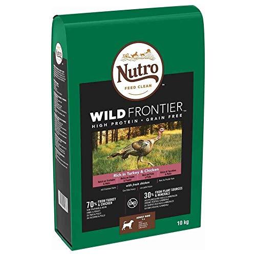 Nutro Hundefutter Trockenfutter Wild Frontier Adult 1+ Reich an Truthahn & Huhn, 10kg (1 Beutel)