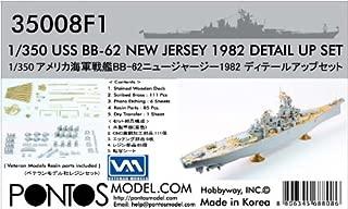 Pontos 1:350 USS BB-62 New Jersey 1982 Detail up set 35008F1