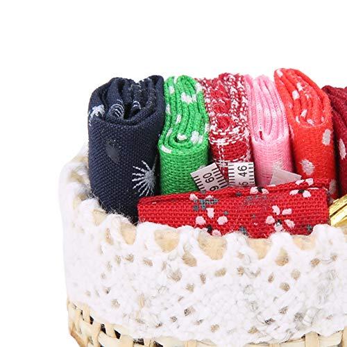 Exquiste 1:12 Cesta de Tejer en Miniatura Herramienta de Costura Accesorio de casa de muñecas Mini Herramienta de Costura(Sewing Tools)