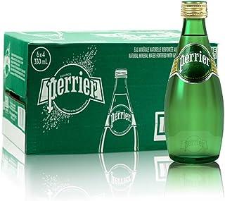 法国perrier巴黎水含气天然矿泉水330毫升*24瓶原味气泡水,18年07月生产 保质期3年