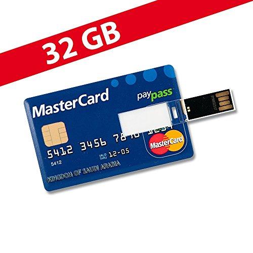 32GB Speicherkarte in Scheckkartenform MasterCard USB Stick Datenspeicher