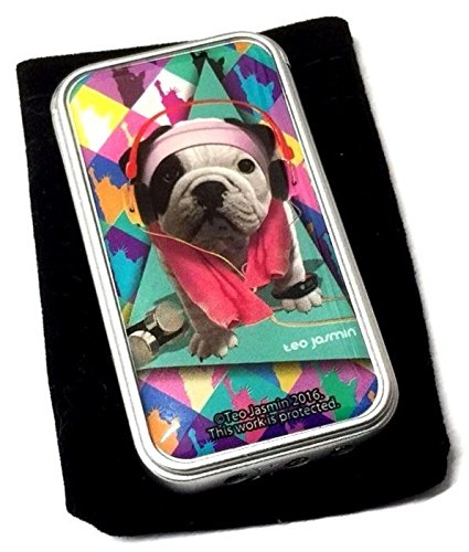 Teo Jasmin Vera Pug Puppy Dogs Design Electronic Gas Lighter Soft Flame PINK