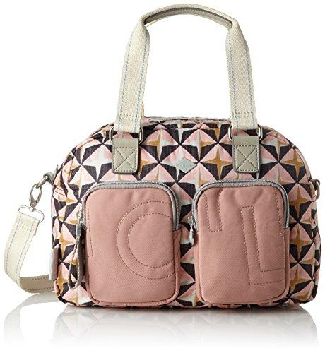 Oilily Damen Charm Geometrical Handbag Mhz Henkeltasche, Pink (Rose), 17x25x33 cm