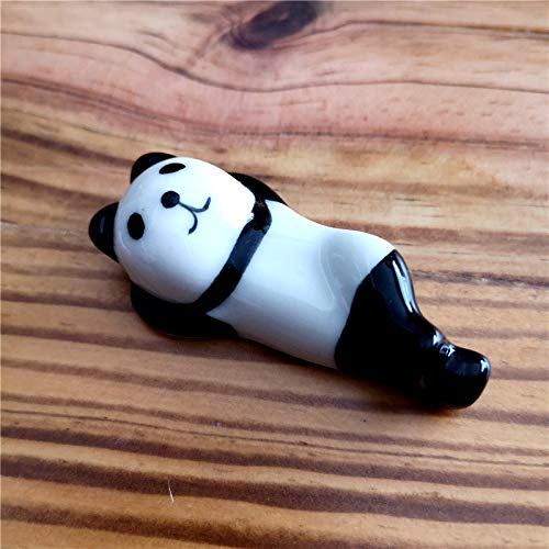 Essstäbchenhalter aus Keramik mit Tiermotiv, Tischverzierung, Essstäbchen, Löffel, Gabel | Panda