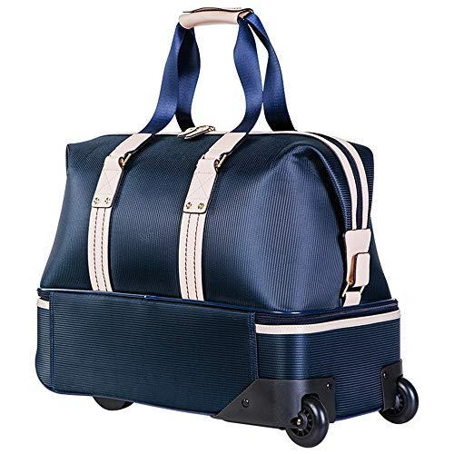 KYEEY Golf Duffle Bags Blue Golf Clothing Bag Double-layer Sports Luggage Shoulder Bag With Wheels Travel Gym Crossbody Bag Unisex Sport Duffel (Color : Blue, Size : One size)