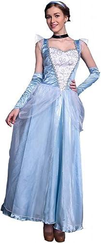 cómodo Shoperama Deluxe Disfraz Cenicienta de Largo Largo Largo Modelo 2 Princesa Cuento Frozen Elsa  selección larga