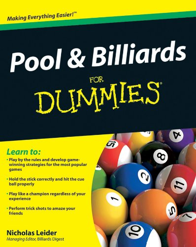 Pool and Billiards For Dummies (English Edition)