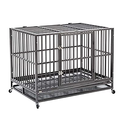 SilveryLake Heavy Duty Metal Dog Crate