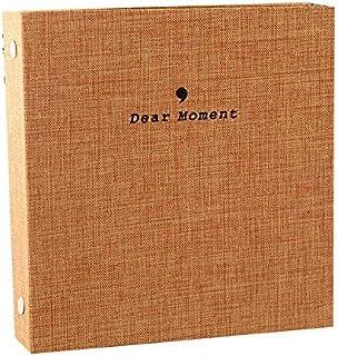 FORUSKY 50 Pockets Fabric Cover Instax Wide Album 3.5x5 Photo Album for Fuji Instax Wide 210, Instax Wide 300, 5 Inch Photos (Khaki)