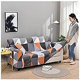 FKYUH Elastische Sofabezug 3 Sitzer Sofaüberwurf Stretch Sofahusse Weich Antirutsch Couchbezug Schonbezug Sofa für Hunde Haustiere-C_3_Sitzer_(190_-_230cm)