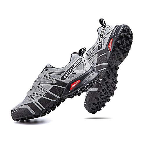 Scarpe Trail Running Uomo Donna Impermeabili Scarpe Trekking Basse Outdoor Scarpa da Passeggio Leggere per Montagna Multisport A Grigio Taglia EU 43
