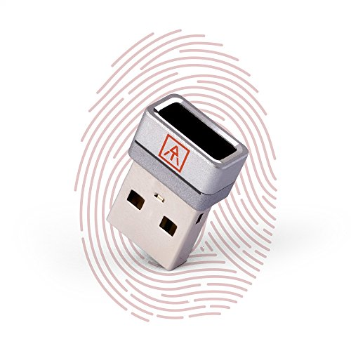 【10% Off】AuthenTrend Nano USB Fingerprint Reader | Windows 10 Hello Biometric Fingerprint Scanner For Password-free Convenience | 360° Touch Instant Recognition For Secure Sign-in | Compact PC Dongle