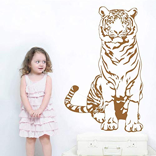 hetingyue Cool tijger muur sticker kunst ontwerp woonkamer huisdecoratie waterdichte muurschildering dierlijke muur sticker