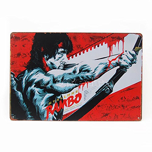 Rambo: First Blood Teil II (1985) (0401022), Metall blechschild, 20 cm x 30 cm, Wand Deko Schild von 66retro