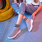 Shukun Ankle boots Socks Shoes Female Summer Fashion Sports High-Top Shoes Thick-Soled Stretch Street Dance Shoes