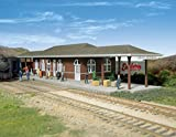"""Whitehall, Wi prototype Similar to small town stations across U.S. Fits 1900S to present Authentic """"brick"""" Exterior Covered platforms on two sides"""
