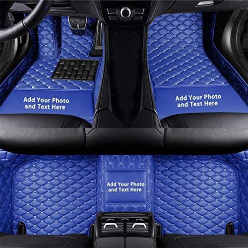 Alfombrillas Coche Personalizadas para C30 C70 S40 S60 S80 S90 V40 V50 V60 XC40 XC60 XC70 XC90 3D Protección Alfombras Antideslizante de Cuero Accesorios Coche Azul 1 Juego