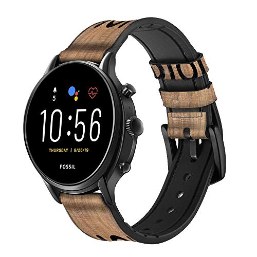 Innovedesire Tic Tac Toe XO Game Bracelet de Montre Intelligente en Cuir et Silicone pour Fossil Wristwatch Taille (20mm)