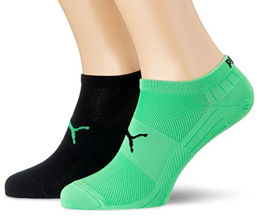 PUMA Herren Performance Train Light Sneaker 2P Socken, Green/Black, 43-46 (2er Pack)