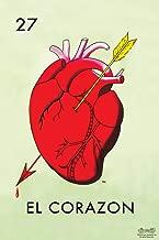 27 El Corazon Heart Loteria Card Mexican Bingo Lottery Cool Wall Decor Art Print Poster 12x18