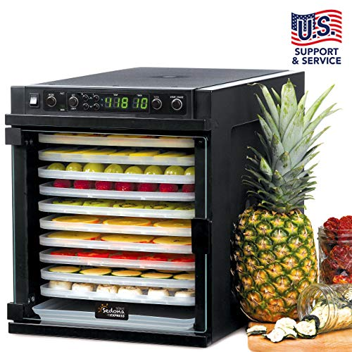Buy Discount Tribest Sedona Express SDE-P6280-B Digital Food Dehydrator, Black with BPA-Free Plastic...